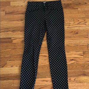 Skinny ankle black pants from Gap.